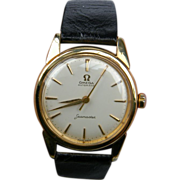 18ct Hallmarked Gold Omega Seamaster Automatic Wrist Watch (1105)