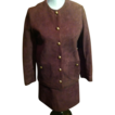 "Vintage Anne Klein ""MOD"" Suede Mini Skirt Suit"