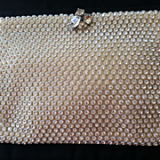 Classic, Beautiful KORET White Satin Rhinestone Clutch Evening Bag