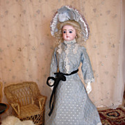 "SALE Beautiful, Rare Jumeau Fashion 17.5"" - Minty Body and clothes."