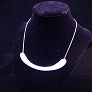 Modernist Artist Crafted Choker Necklace from 1950s