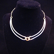Vintage Two-Tone Napier Choker Necklace