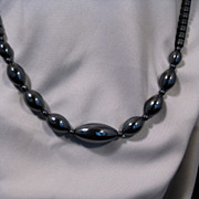Enticing Hematite Necklace with Graduated Size Stones
