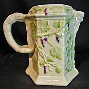 SOLD Irish Belleek Bacchus Wine Pitcher