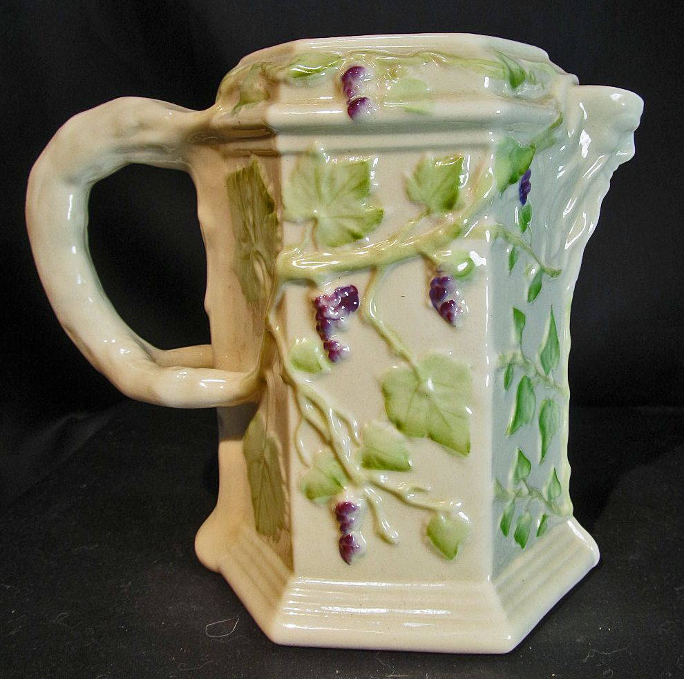Irish Belleek Bacchus Wine Pitcher