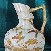 Ott & Brewer American Belleek Pitcher Bamboo