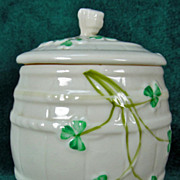 Irish Belleek 421 Barrel Marmalade