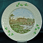 "Irish Belleek Plate 8-1/2"" The Pottery Works"
