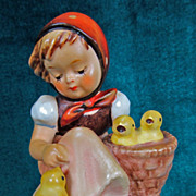 SOLD M I Hummel Figurine Chick Girl 57/0 Goebel W. Germany TMK3 - Red Tag Sale Item
