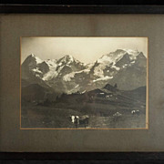 Vintage (c.1912) Photograph S.G. Wehrli, National Geographic photographer, Alps Landscape with