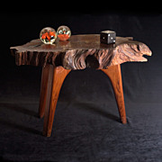 Fabulous 1970s Redwood Burl Modernist Table