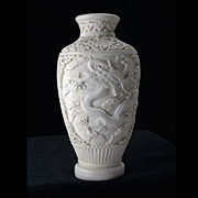 Early 20th Century Lacquer Chinese Carved Vase