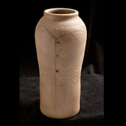 20th Century Studio Earthen Vase, signed  DeVries
