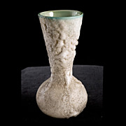 Mid-Century Celadon Ceramic Salt Fired Studio Vase