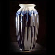 Vintage 1920's Japanese Art Deco Flambe Vase