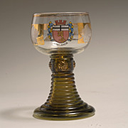 Vintage Bohemian Theresienthal Roemer Rhein Wine Glass