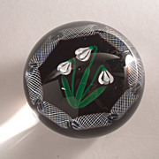 Selkirk Glass Snowdrop Limited Ed. Paperweight c. 1983