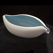 &quot;BAHARI&quot; Free Form Porcelain Bowl, Modernist Design