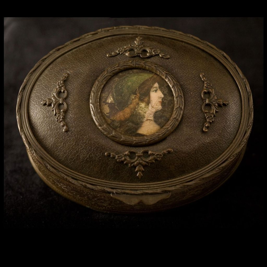 Antique Early 20th Century Gilt over Copper Jewelry Box