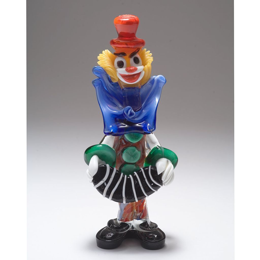 Fabulous 1960 S Murano Glass Accordion Playing Clown From