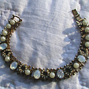 Vintage Brookcraft Horseshoe and Moonstone Bracelet