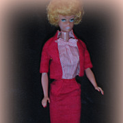 SALE PENDING Vintage Barbie 1964 Blonde Bubble Cut White Lips in Busy Gal
