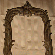 REDUCED Vintage Syroco Plastic Injected Wood Mirror Frame
