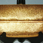 SALE Vintage Whiting & Davis Gold Mesh Clutch Purse