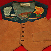 Vintage Woman's Suede & Denim South Western Designed Vest