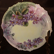 R.C. Claire Bavaria Purple Floral Dessert Plate