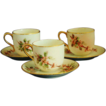Vintage 3pc. Hand Painted Nippon Demitasse Cup & Saucer Sets