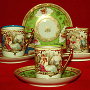 REDUCED Antique Vienna Beehive Marked Demitasse Sets - Multiple Colors