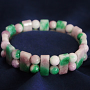 Vintage Adjustable Variable Color Jadeite Bracelet
