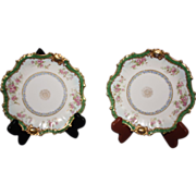REDUCED Antique Two Blakeman & Henderson Limoges B&H Desert Dishes