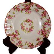 REDUCED Vintage Elite Works Limoges Pink Floral Pattern Bread Dish