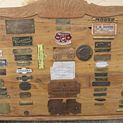 Vintage One-of-a-Kind Cabinet Maker's Furniture Tag Wall Display Plaque