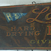 Lowe Brothers Tin Country Store Sign Advertising Floor Paint