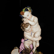 A late 19th Century Meissen figurine of Satyr