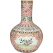 Antique Chinese Export-Famille Verte Bottle Vase