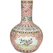 SALE Antique Chinese Export-Famille Verte Bottle Vase