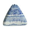Unusual Large Triangle  Antique Blue & White charger