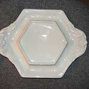 Red Cliff China White Ironstone Bloom Pattern Underplate