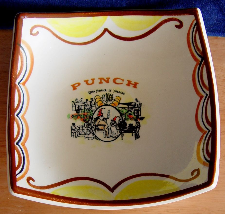 Od Dish with Mr. Punch Smoking a Cigar