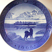 Royal Copenhagen The Last Umiak 1968 Collector Plate