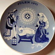 Porsgrund Norway1971 Limited Edition Christmas Plate