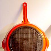 "Vintage 9"" Descoware Flameware Frying Pan Made in Belgium"