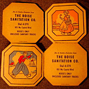 Boise Sanitation Co Hotpad Set Dial 4-5711 Boises Only Enclosed Sanitary Trucks!