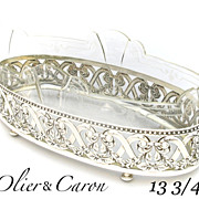 Magnificent Early 20C French Sterling Silver & Crystal Centerpiece Jardiniere by Olier et Caro