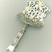 French Sterling Silver Asparagus Server in Art Nouveau Style Iris w/Box