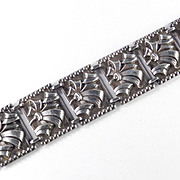 Art Moderne Sterling Silver Link Bracelet Uris Sales Corp NYC Original Box Tags